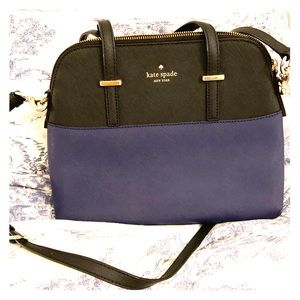 Kay Spade Two tone, black and navy, midsize purse
